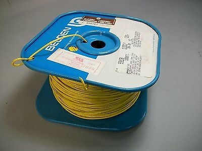 Belden 9918 Tinned Copper Cable Wire 18 AWG Yellow Color 900+ Feet - New