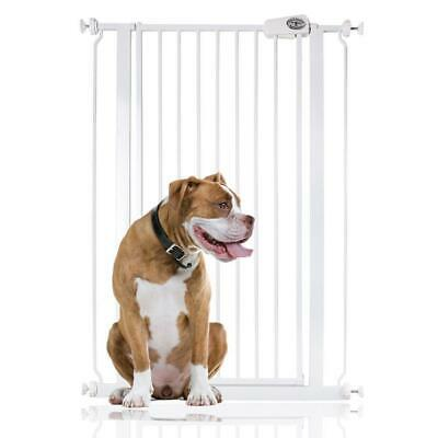 Safetots Extra Tall Pet Stair Gate White Dog Barrier 75 - 147.4cm Safety Gate
