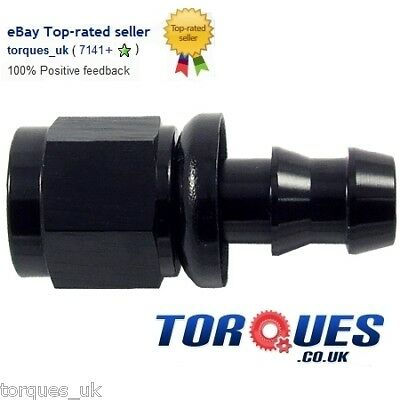 AN -10 (AN10) STRAIGHT Push-On Fuel Hose Fitting Black