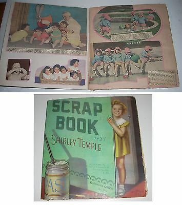 Vintage 1937 Dionne Quintuplet Clipping Scrapbook in Shirley Temple Cover