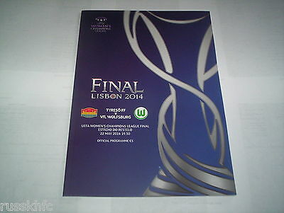 2014 Uefa Womens Champions League Final Tyreso V Wolfsburg *official Programme*