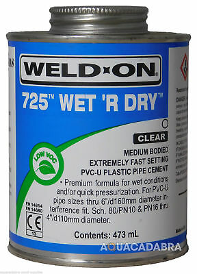 473ml WET R DRY FISH POND POOL PLASTIC PVC FILTER PIPE CEMENT GLUE SOLVENT WELD
