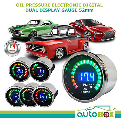 52mm Electronic Digital Oil Pressure Gauge by Autotecnica