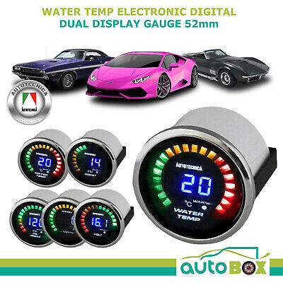 52mm Electronic Digital Water Temperature Gauge by Autotecnica including sender