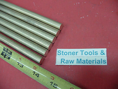 """6 Pieces 7/16"""" C360 BRASS SOLID ROUND ROD 14"""" long New Lathe Bar Stock H02 .437"""""""