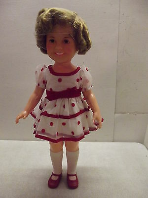 """1972 IDEAL 16"""" SHIRLEY TEMPLE DOLL IN STAND UP AND CHEER DRESS IS TAGGED"""