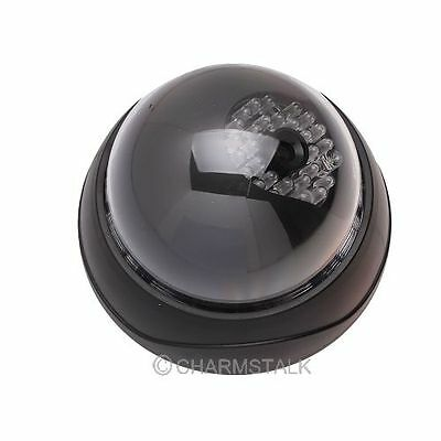Dummy Dome Security CCTV Camera with Flashing Red Led light Surveillance Home