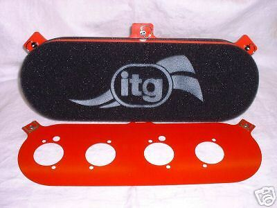 ITG MEGAFLOW AIR FILTER BOX JC50 FORD OHC PINTO WEBER DCOE 107mm CENTRES