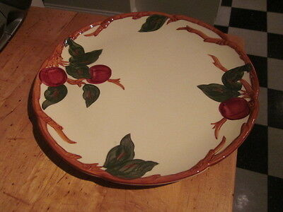 "Early Mark Vintage Franciscan Ware APPLE 12 1/2"" Round Chop Torte Plate NR"