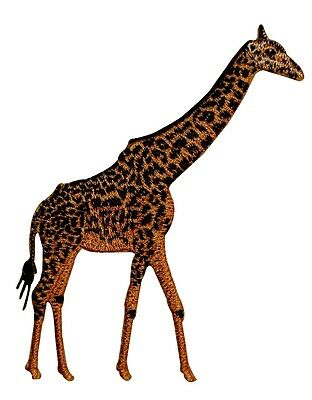Animal Wild Giraffe Embroidered Iron On Badge Applique Patch P3954