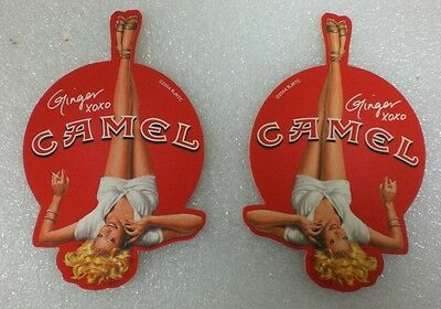 "30 - CAMEL Cigarette Pin UP Coasters ""GINGER"" Beer Pub Tavern  NEW"