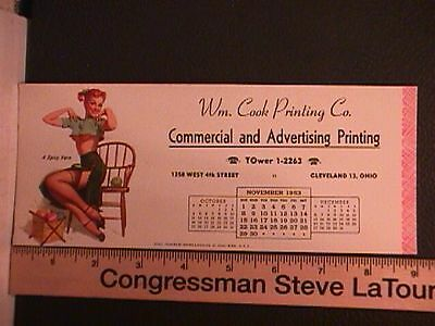 7415A.  Vintage Pin-Up Blotter Card  A Spicy Yarn   (1953)      X1