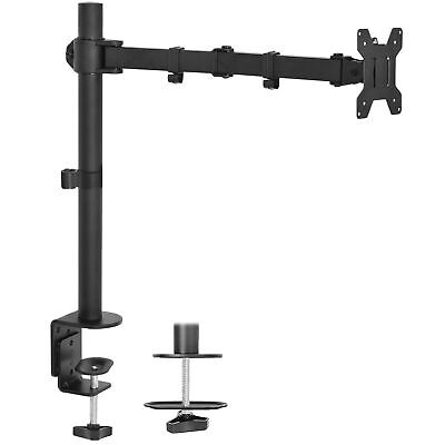 """USED Single LCD Monitor Desk Mount Stand Adjustable/Tilt for 1 Screen up to 27"""""""