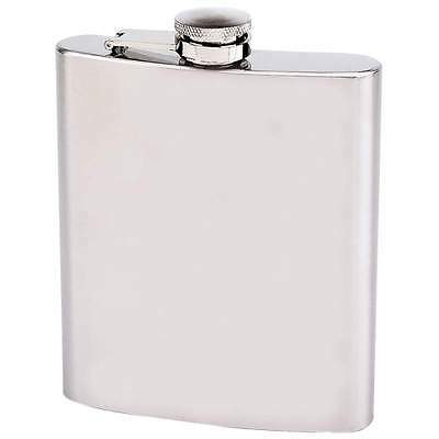 New 18 oz Stainless Steel Hip Pocket Flask Screw Cap Alcohol Whiskey Drink Party