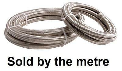 "8mm 5/16"" NBR Fuel Braided Stainless Steel Hose Replacement 1 Metre Pipe"