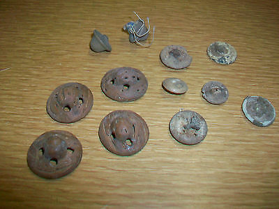 Lot of Vintage Unique BUTTONS Some Wood Wooden