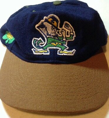 Notre Dame University Fighting Irish 100% WOOL Baseball Hat Cap Embroidered Look