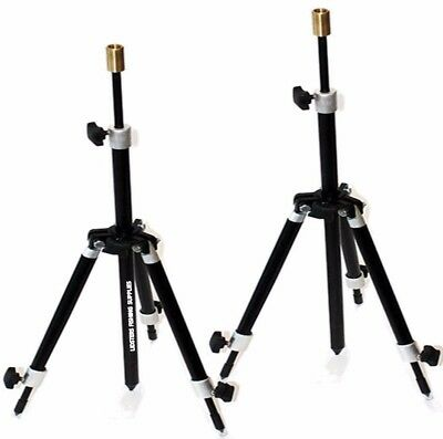 2 x New Carp Coarse Fishing Mini Tripod Rod Rests Fully Adjustable Black