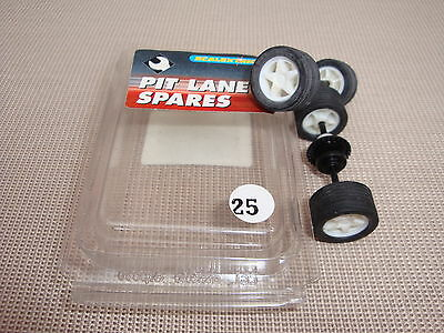 New Scalextric Wheels And Axles Complete With Tyres  Ref C8095