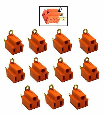 12 Pc Electrical Plug Ground Adapter Converts 2 Prong Outlet To 3 Prong