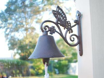 Cast Iron Country Style Butterfly Door Bell 052014 Rustic Finish