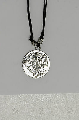 Star sign pendant Charm Astrology Horoscope silver birth sign coin Libra Zodiac
