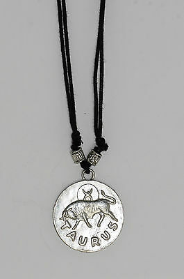 Star sign pendant Charm Astrology Horoscope silver birth sign coin Taurus Zodiac