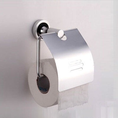 1PC Aluminum Wall-mounted Toilet Roll Holders Toilet Paper Storage With Cover