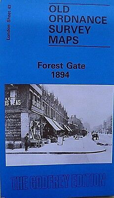 Old Ordnance Survey Maps  Forest Gate near East Ham London 1894 Godfrey Edition