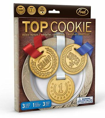 3 x Fred TOP COOKIE COOKIE CUTTER and STAMPER - MEDAL Shaped Cutters