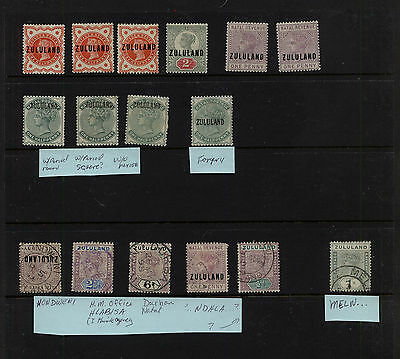 Zululand  nice lot of stamps mint and use         KEL0406