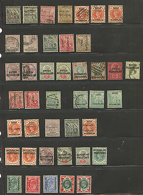 Bechuanaland  nice  lot  of  mint and used   stamps   LOOK       KEL0413