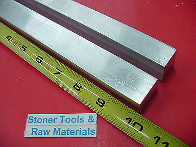 "2 Pieces 3/4"" X 1"" ALUMINUM 6061 FLAT BAR 10"" long .750 Solid New Mill Stock"