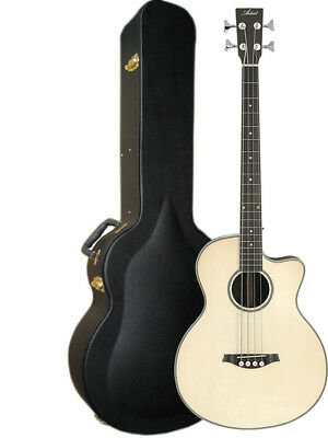 Artist ABJ50CEQ+C Acoustic Bass with Cutaway and EQ + Case - Natural - New