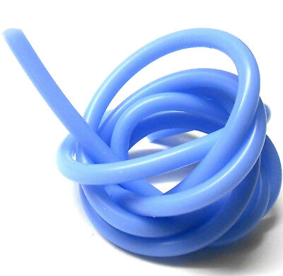 S10010B Light Blue Silicone RC Nitro Glow Fuel Line Tube Pipe 1 Meter 5mm x 2mm
