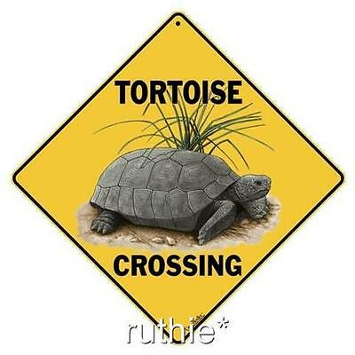 "Tortoise Metal Crossing Sign 16 1/2"" x 16 1/2"" Diamond shape Made in USA #285"