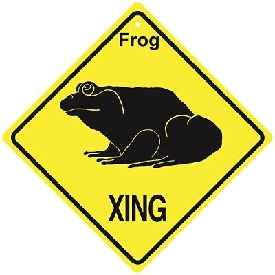 Frog Crossing Xing Sign New Made in USA