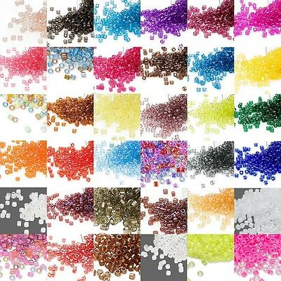 1,000 Little Miyuki Delica Transparent 11/0 Round Glass Seed Beads in 5 Gram