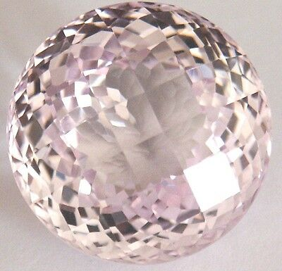 Stunning 37.1cts19.5x12 mm Fancy Round Checkerboard LightPink created Sapphire