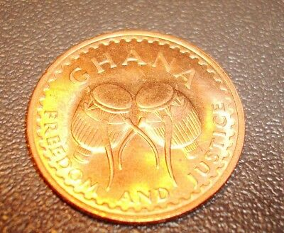 Ghana Half Pesewa Coin From Africa 1967 Uncirculated Mint Condition Beauty !!!