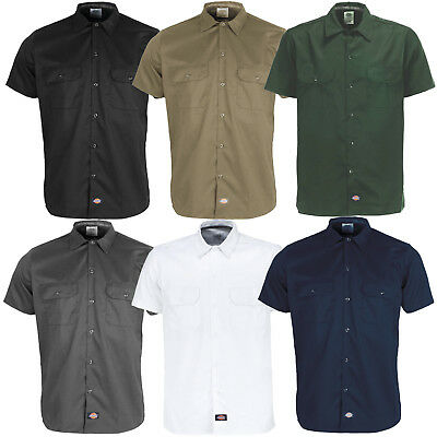 DICKIES SHORT SLEEVE Work Shirt Herren-Hemd Kurzarmhemd WS576 Slim ... f8bc91be19
