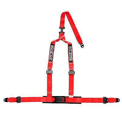 Sparco 3 Point Double Release Clip In Harness - ECE Approved - In Red