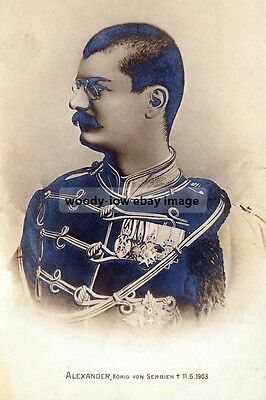 mm946 - Murdered King Alexander I of Serbia - Royalty photo 6x4