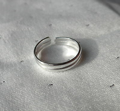 Double Band Toe Ring 925 Sterling Silver