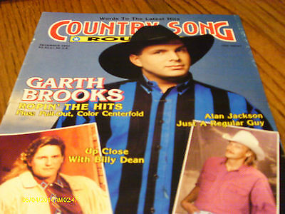 Garth Brooks Covers Country Song Roundup Magazine December 1991 Billy Dean