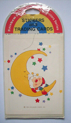 Rainbow Brite trading cards and stickers vintage Hallmark package 1983 F