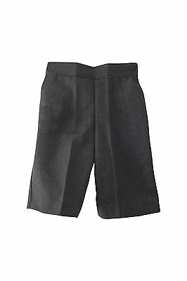 BOYS School SHORTS SLIM FIT-PULL-UP-Elasticated back (NO ZIP) GREY-18mth-11yrs*