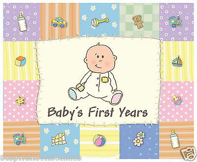 Baby's First Years Patchwork Design Baby Record Album