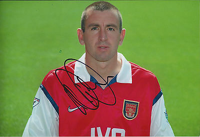 Nigel WINTERBURN Signed Autograph 12x8 Photo AFTAL COA ARSENAL Genuine RARE