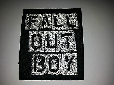 FOB FALL OUT BOY Heavy Rock n Roll 6.5cm Patch Embroidered Sew or Iron on Badge